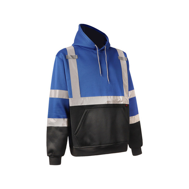 GSS Non-ANSI Enhanced Visibility Blue Reflective Pullover Hoodie 7013 Right Side