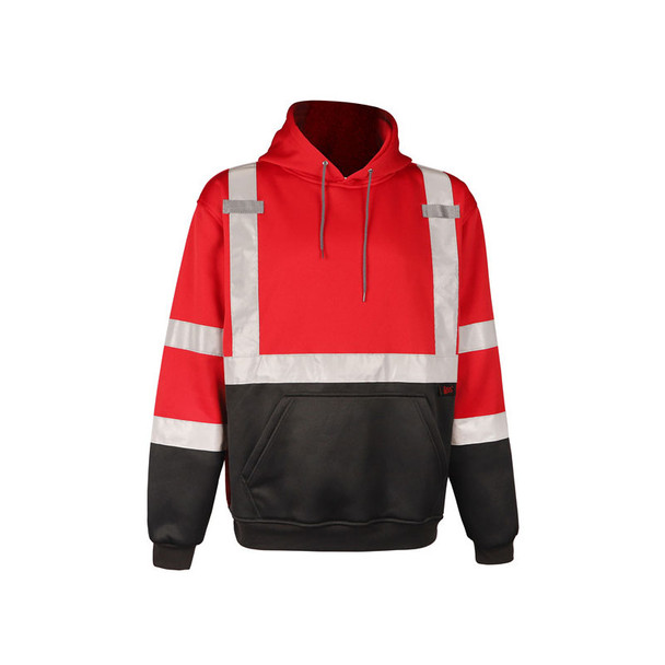 GSS Non-ANSI Enhanced Visibility Red Pullover Hoodie 7014 Front