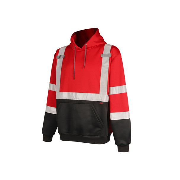 GSS Non-ANSI Enhanced Visibility Red Pullover Hoodie 7014 Left Side