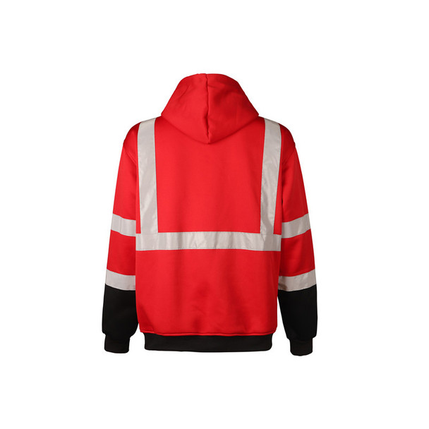 GSS Non-ANSI Enhanced Visibility Red Pullover Hoodie 7014 Back