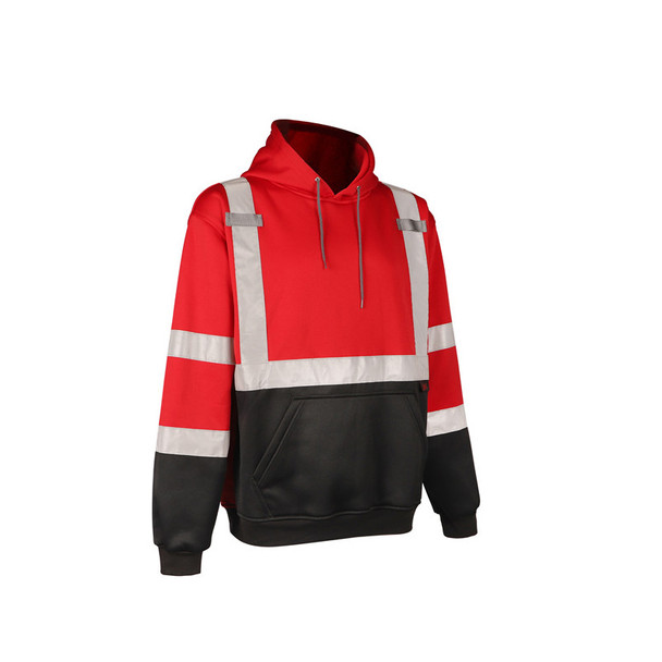 GSS Non-ANSI Enhanced Visibility Red Pullover Hoodie 7014 Right Side