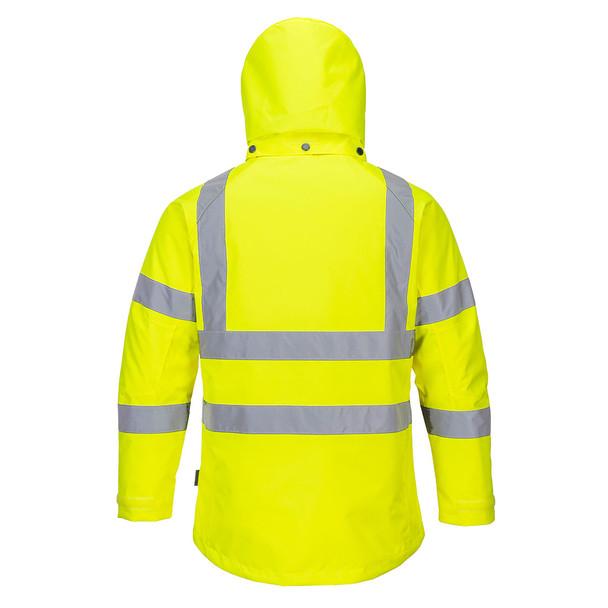 PortWest Class 3 Hi Vis Yellow Ladies Winter Jacket LW74 Back