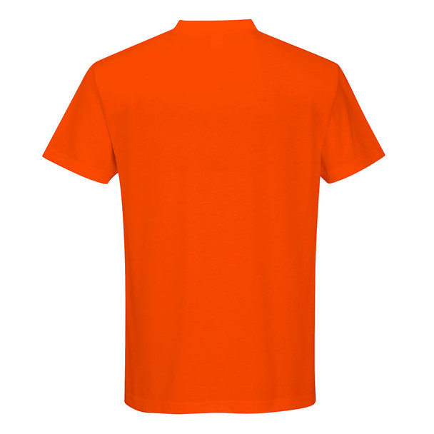 PortWest Non-ANSI Hi Vis T-Shirt with Chest Pocket S577 Orange Back