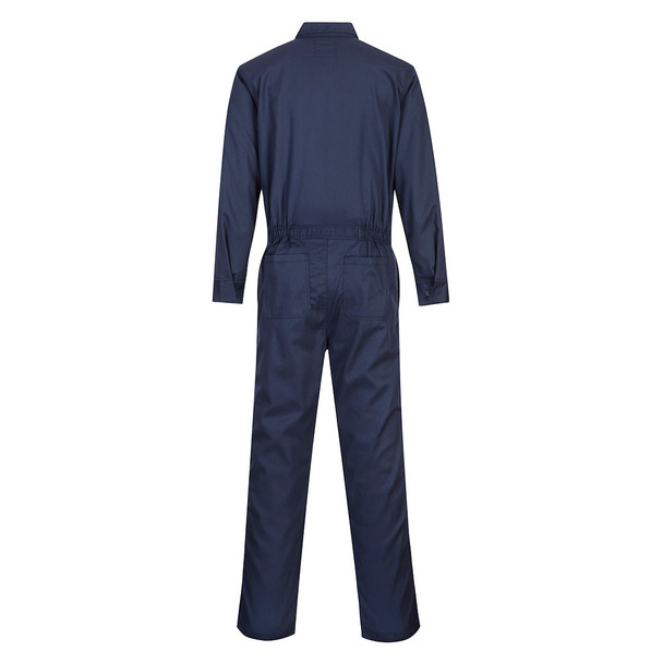 PortWest FR Bizflame Classic Navy Unlined Coverall UFR87 Back