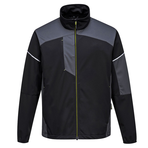 PortWest Flex Shell Jacket T620 Zoom Grey Front
