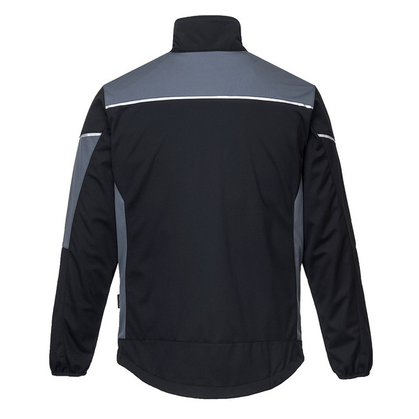 PortWest Flex Shell Jacket T620 Zomo Grey Back