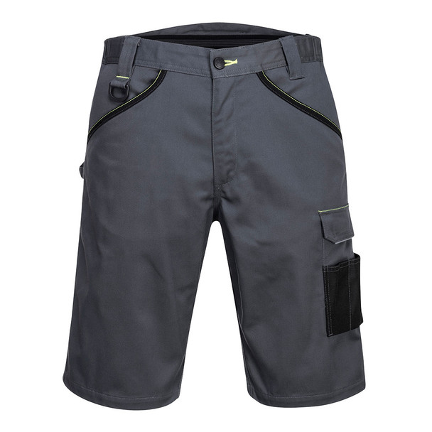 PortWest Cargo Work Shorts PW349 Zoom Grey Front
