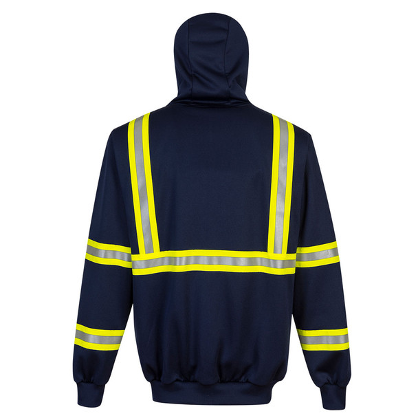 PortWest Enhanced Visibility Navy Iona Hoodie F130 Back