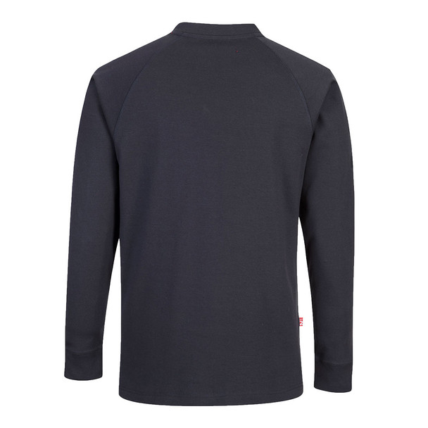 PortWest FR Anti-Static Crew Neck Sweatshirt FR33 Navy back
