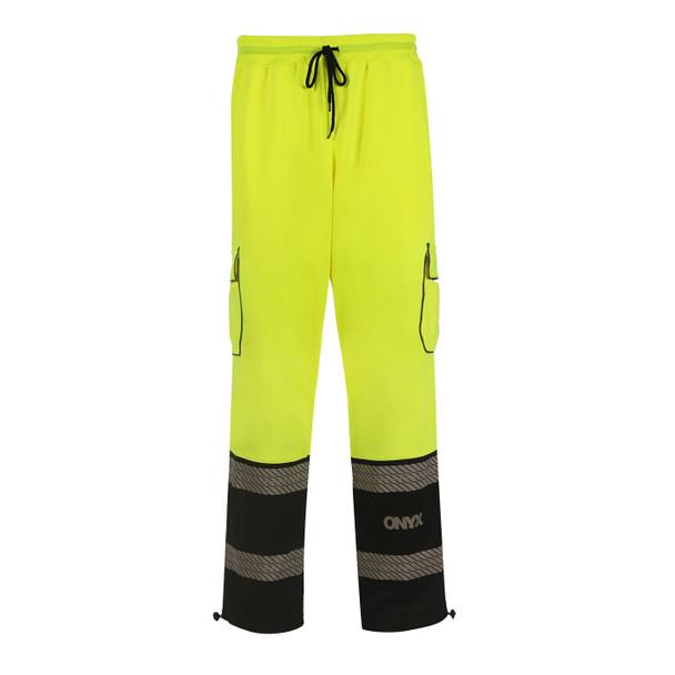 GSS Class E Hi Vis Lime Onyx Sweat Pants 8715 Front
