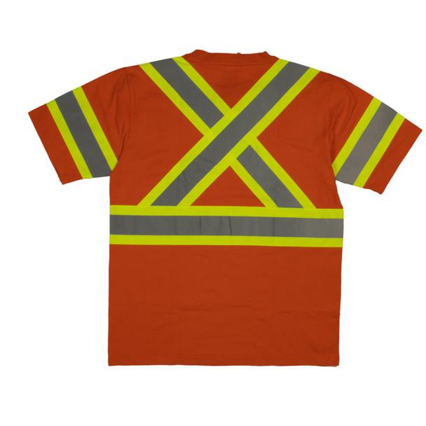 Tough Duck Class 2 Hi Vis X-Back T-Shirt ST11 Orange Back