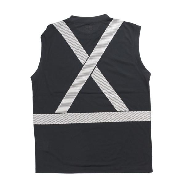 Tough Duck Class 1 Enhanced Visibility X-Back Black Sleeveless T-Shirt ST15BLK Back
