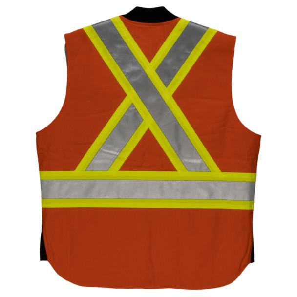 Tough Duck Class 1 Enhanced Visibility X-Back Orange Duck Safety Vest SV06 Back