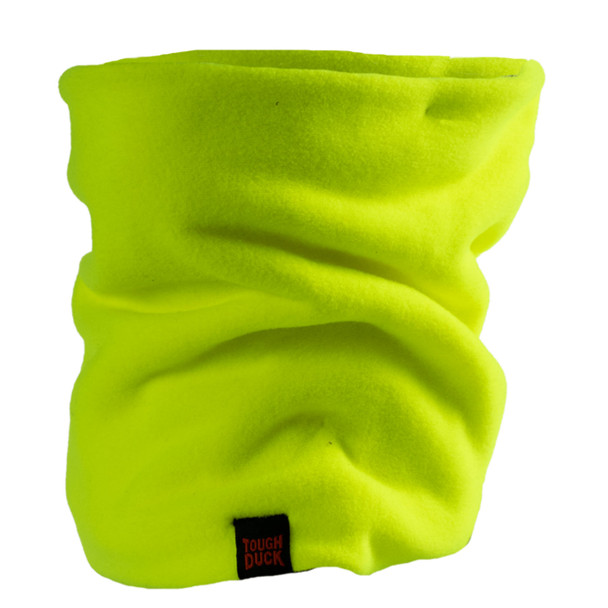 Tough Duck Non-ANSI Hi Vis Green Fleece Neck Gaiter WA27