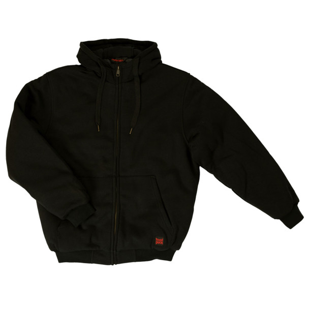 Tough Duck Water Repellent Insulated Hoodie with Quilted Lining WJ08 Black Front