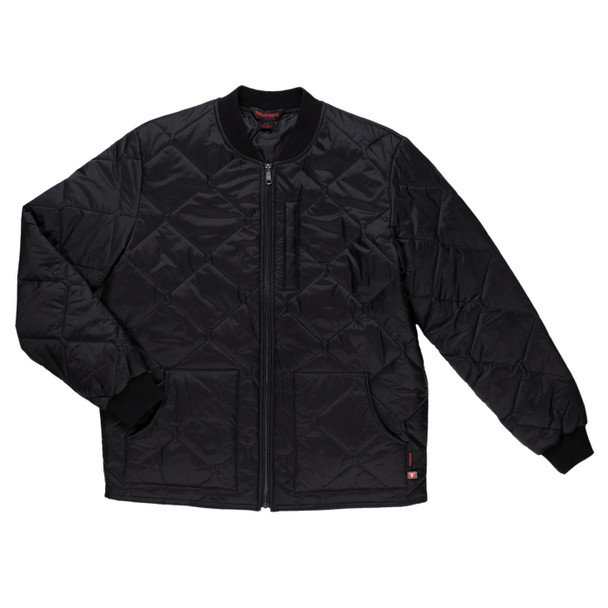 Tough Duck Black Freezer Jacket with Quilted Insulated Lining WJ16 Front