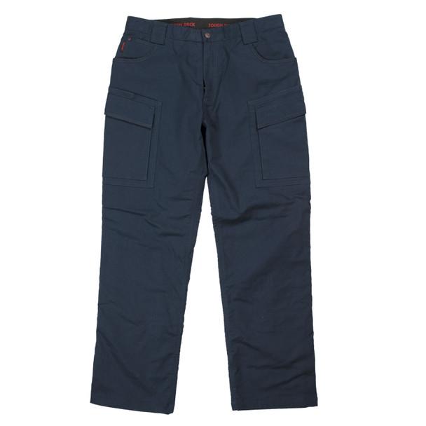 Tough Duck Navy Fleeced Lined Flex Twill Cargo Pants WP06 Front