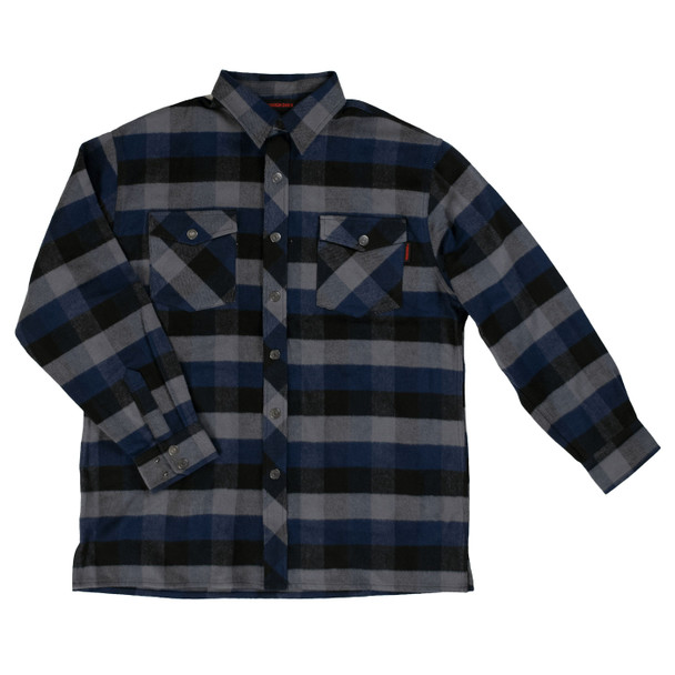 Tough Duck Heavy Duty Flannel Overshirt WS04 Navy Plaid Front