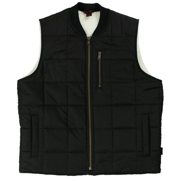 Tough Duck Sherpa Lined Box Quilted Vest WV01 Front