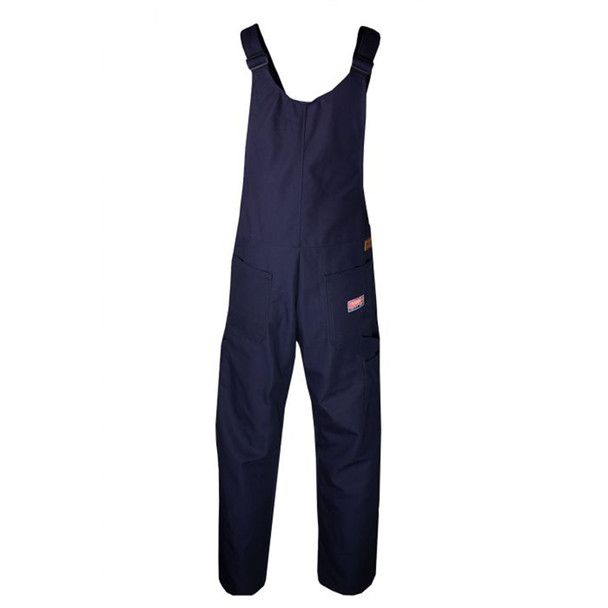 TECGEN FR Unlined Bib Overall BIB6 Navy Back