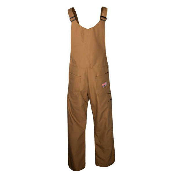 TECGEN FR Unlined Bib Overall BIB6 Brown Back