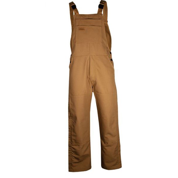 TECGEN FR Unlined Bib Overall BIB6 Brown Front