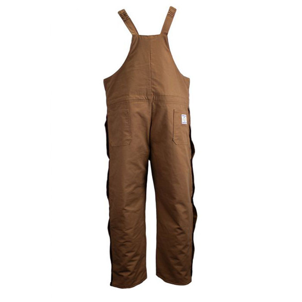 Union Line FR Brown Ultrasoft Duck Bib Overall with Quilted Liner 15079-67 Back