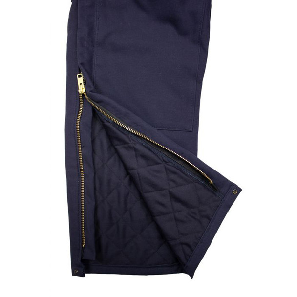 TECGEN FR Deluxe Lined Bib Overall BIB6DQ2 Leg Zipper