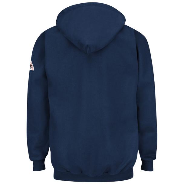 Bulwark FR Pullover Hooded Navy Sweatshirt SEH8 Back