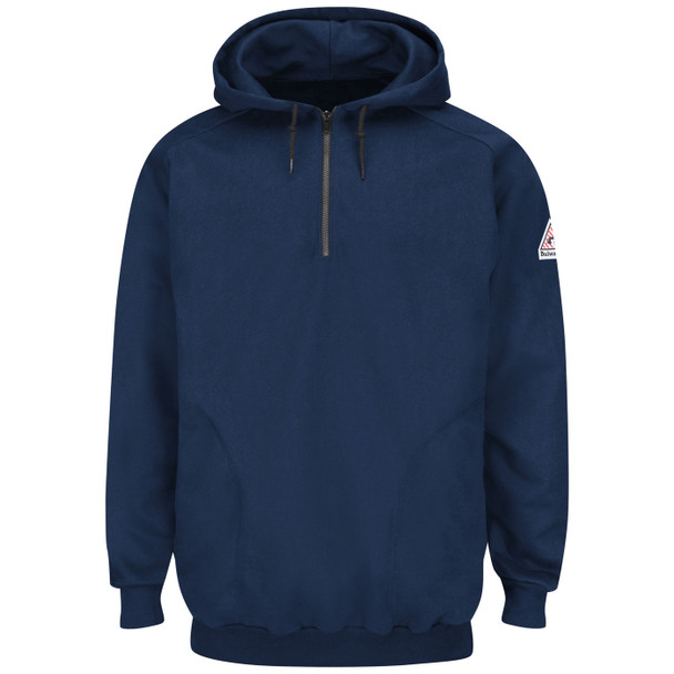 Bulwark FR Pullover Hooded Navy Sweatshirt SEH8 Front
