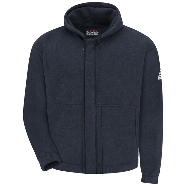 Bulwark FR Zip-Front Fleece Hooded Sweatshirt SMH6 Front