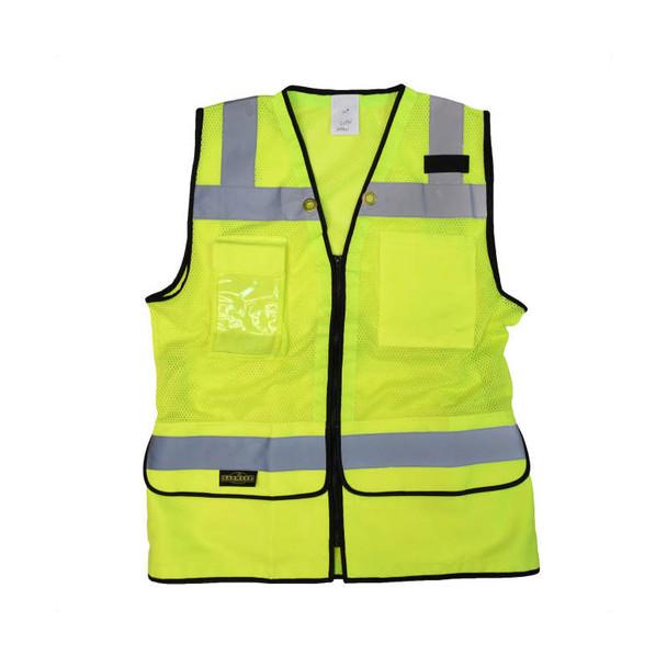 Radians Class 2 Hi Vis Ladies Safety Vest SV59W-2 Green Flat Front