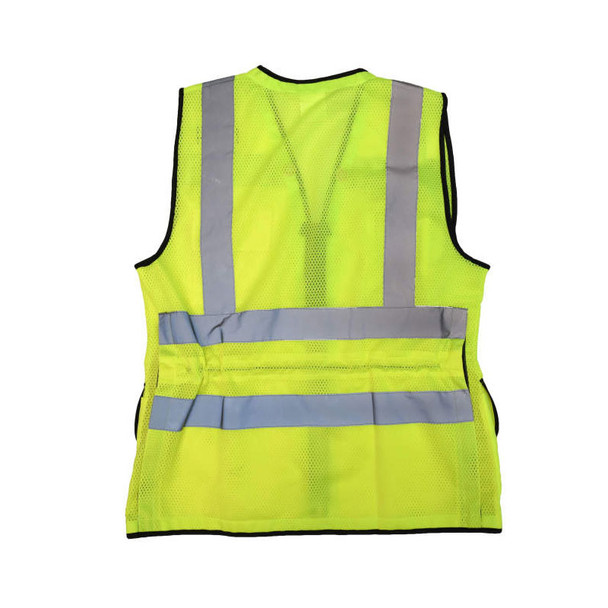 Radians Class 2 Hi Vis Ladies Safety Vest SV59W-2 Green Flat Back
