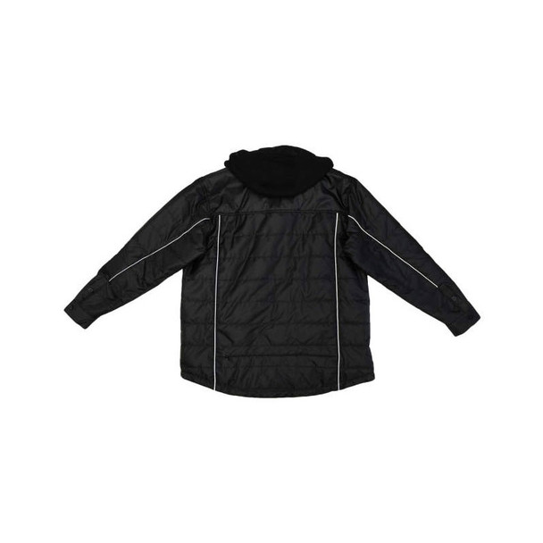 Radians Class 3 Hi Vis Green Black Bottom Wind Jacket with Segmented Reflective Tape SJ04 Reversed Back Flat