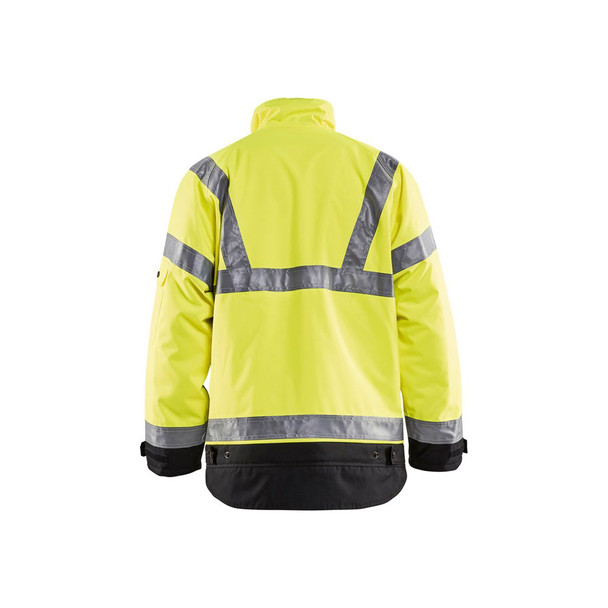 Blaklader Class 3 Hi Vis Winter Jacket 492719773399 Yellow Back