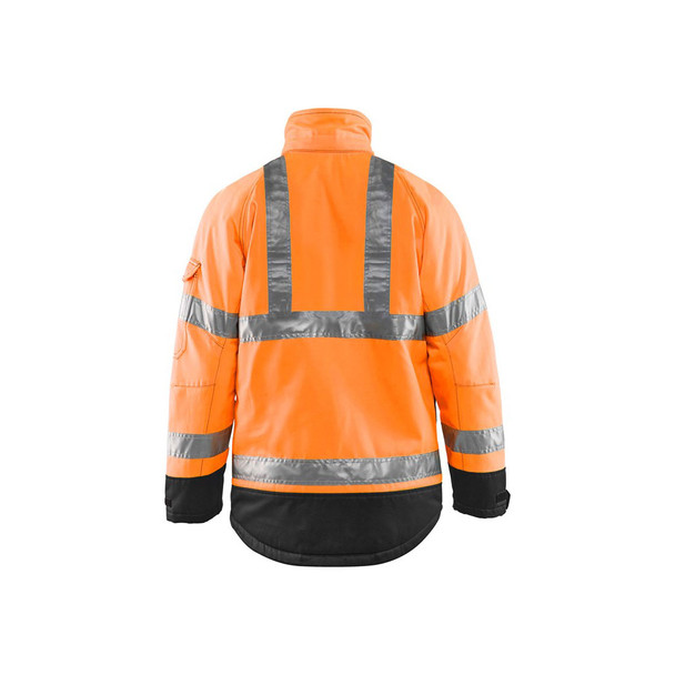 Blaklader Class 3 Hi Vis Winter Jacket 492719775399 Orange Back
