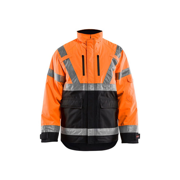 Blaklader Class 3 Hi Vis Winter Jacket 492719775399 Orange Front