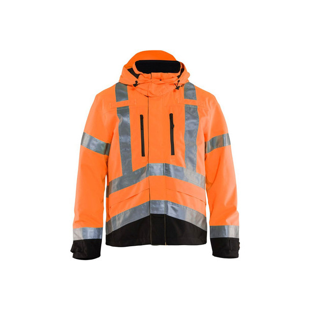 Blaklader Class 3 Hi Vis Shell Jacket 493719775399 Orange Front