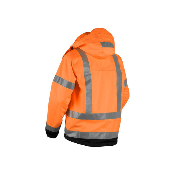Blaklader Class 3 Hi Vis Shell Jacket 493719775399 Orange Back