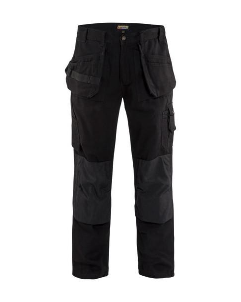 Blaklader Craftsman Bantam 8 oz. Work Pants 163013109900 Black Front