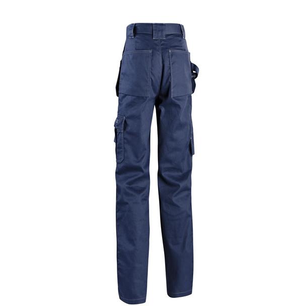 Blaklader 9.5oz. Flame Resistant Navy Blue Work Pants 163615508900 Back