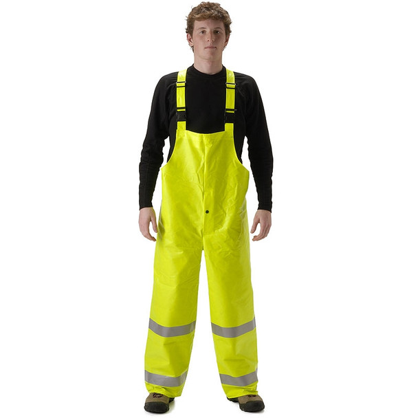 NASCO FR Class 3 Hi Vis ArcLite Nomex Rain Jacket with Bib Trouser Set 1500-SET Trouser