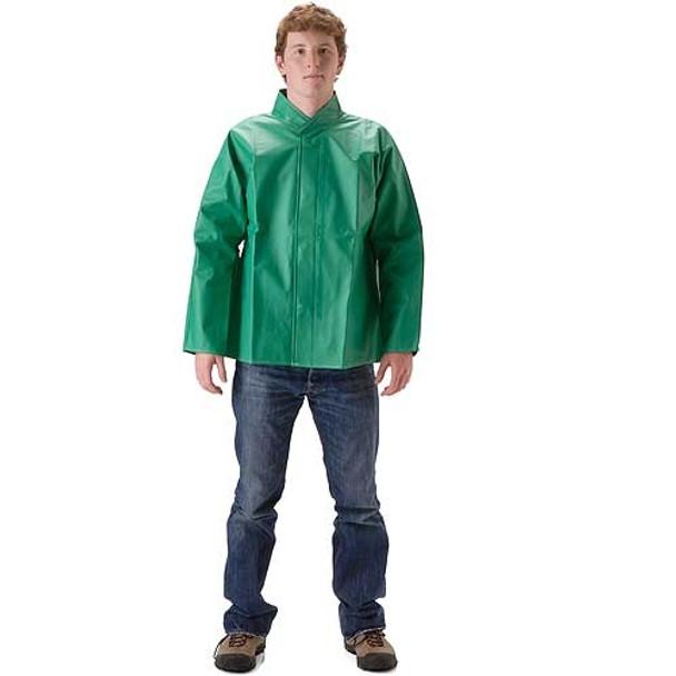 NASCO ASTM D6413 AcidBasic Chemical Handling Industrial Rain Jacket 52JG Front