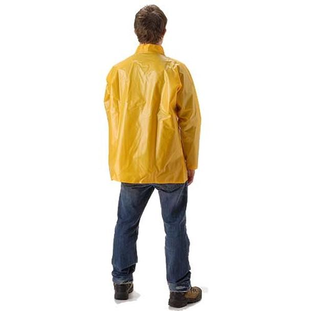 NASCO ASTM D751 WorkHard Waist Length Industrial Rain Jacket No Hood 60JSY Back