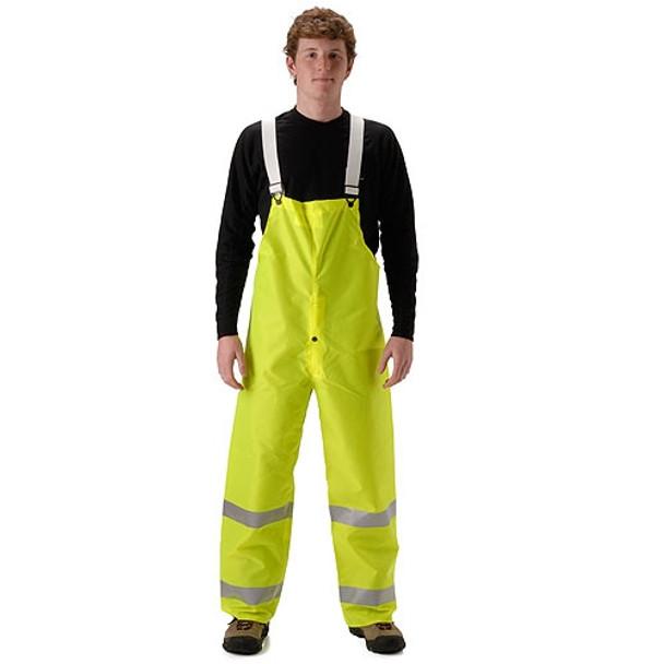 NASCO Class E Hi Vis Yellow WorkLite Made in USA Bib Trouser 80TFY455