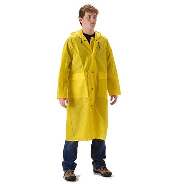 NASCO ASTM D6413 WorkLite Full Length Made in USA Hooded Raincoat 81CY468 Front
