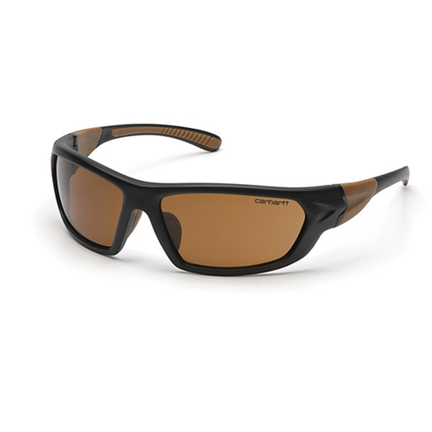 Carhartt Carbondale Safety Glasses Bronze Lens / Black-Tan Temples - 1 doz - CHB218D