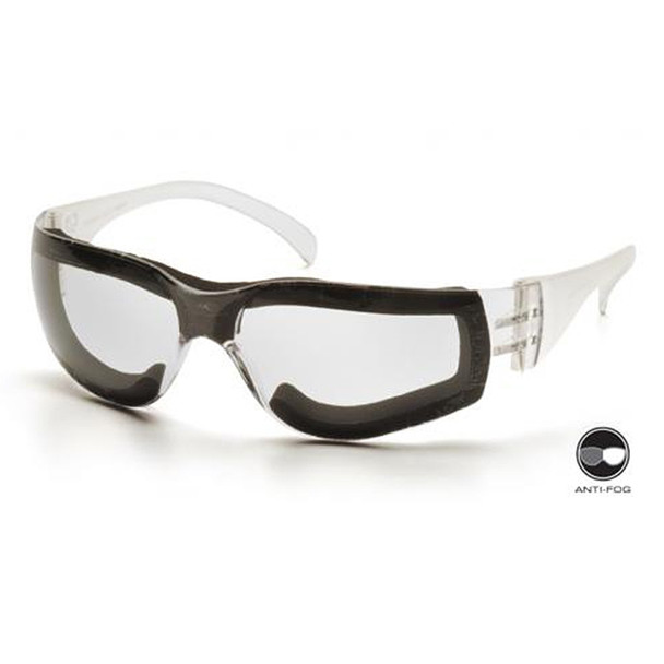 Box of 12 Pyramex Intruder Anti-Fog Clear Lens Safety Glasses S4110STFP