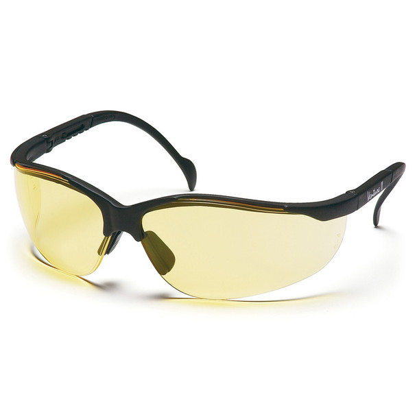 Pyramex Safety Glasses Amber Venture II - Scratch Resistant Polycarbonate Lens - Box Of 12 SB1830S