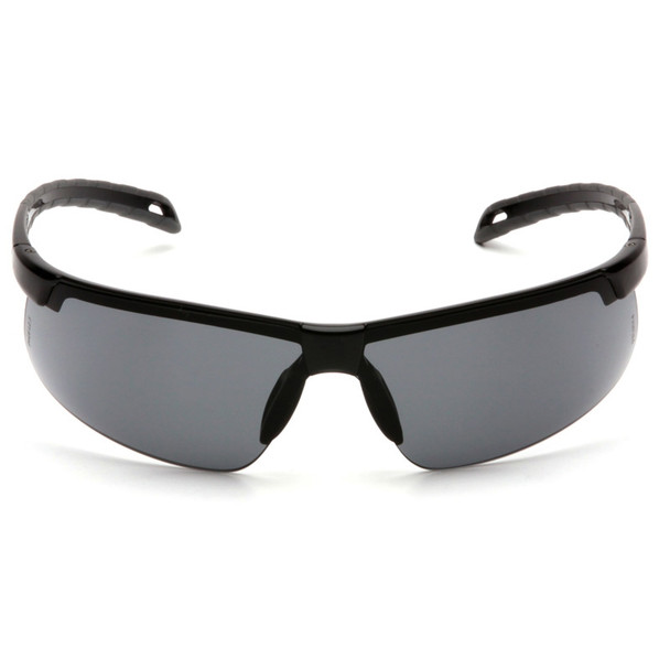 Box of 12 Pyramex Ever-Lite Gray Lens Black Frame Safety Glasses SB8620D Front